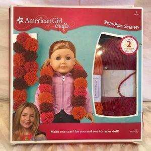 American Girl Pom Pom Scarves kit NIB